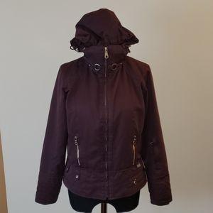 Nils Ski Snowboard Purple Jacket Removable Hood 4